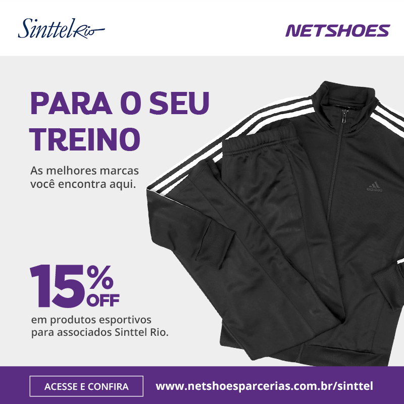68190ee242 Sinttel-Rio e Netshoes dão desconto de 15% para associados – Sinttel Rio